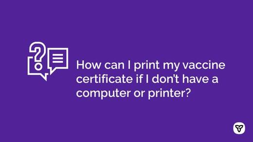 Printing Vax Certificates