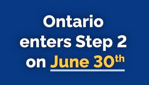 Ontario Reopening Step 2